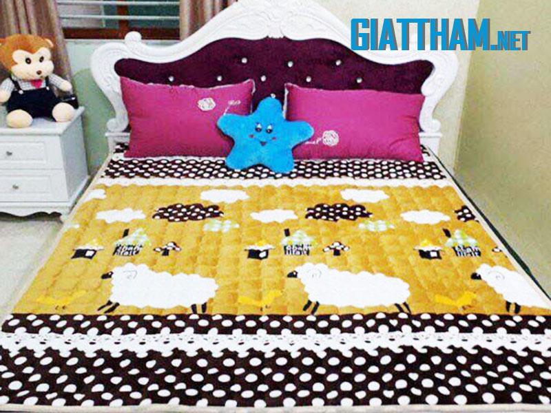 Giặt thảm trải giường bằng công nghệ hơi nước nóng
